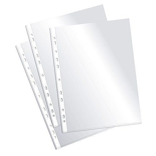 Plus Office EH303A-8/FC – Fundas multitaladro folio-cristal, 90 micras, 100 unidades, transparente Material de Oficina y Papelería