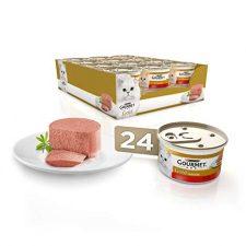 Purina Gourmet Gold Mousse comida para gatos con Buey 24 x 85 g Productos para Mascotas