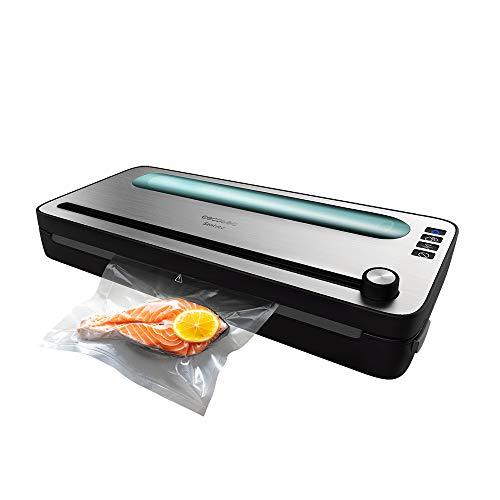 Cecotec Envasadora al vacío FoodCare SealVac 120 SteelCut. 120 W , Sistema de envasado en 10 seg, Presión de vacío de 0,75 bar, Sellado silencioso, 2 modos