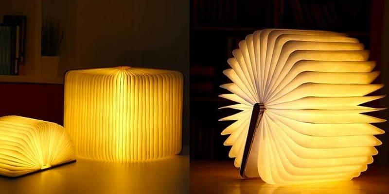 lampara libro led