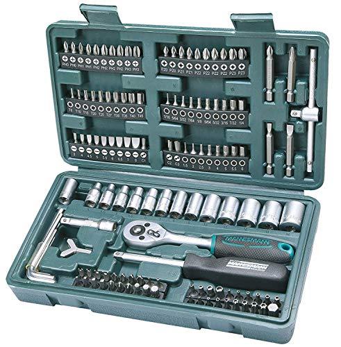 Mannesmann Kit – Maletín de herramientas + accesorios Bricolaje y herramientas