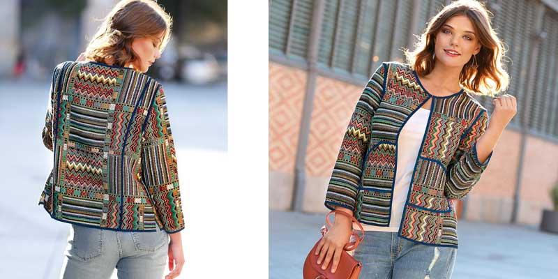 rebajas chaqueta multicolor