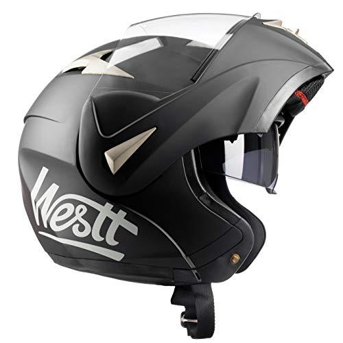 Westt Torque – Casco De Moto Modular Integral Ropa para motoristas