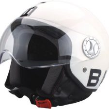 BHR 50163 Demi-Jet Casco de moto blanco Ropa para motoristas