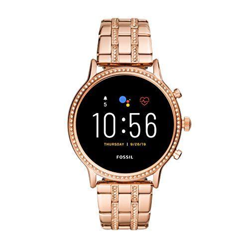fossil smartwatch pantalla tctil para mujer de connected con correa en acero