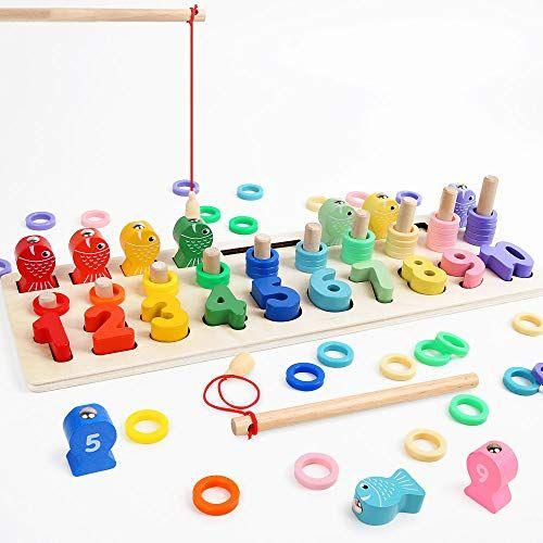 lbla nios puzzle de bloques de madera montessori tablero de conteo de