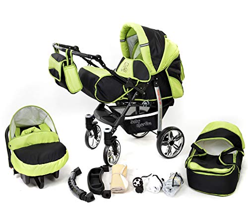 sportive x in travel system incl baby pram with swivel wheels car
