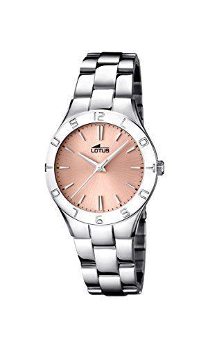 Lotus 15895/2 – Reloj de cuarzo para mujer, correa de acero inoxidable Relojes