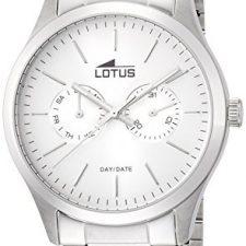 lotus reloj de cuarzo para hombre con correa de acero inoxidable
