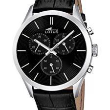 Lotus 18119/2 – Reloj de pulsera hombre, Cuero, color Negro Relojes