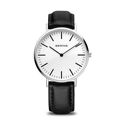bering reloj analgico para hombre de cuarzo con correa en cuero