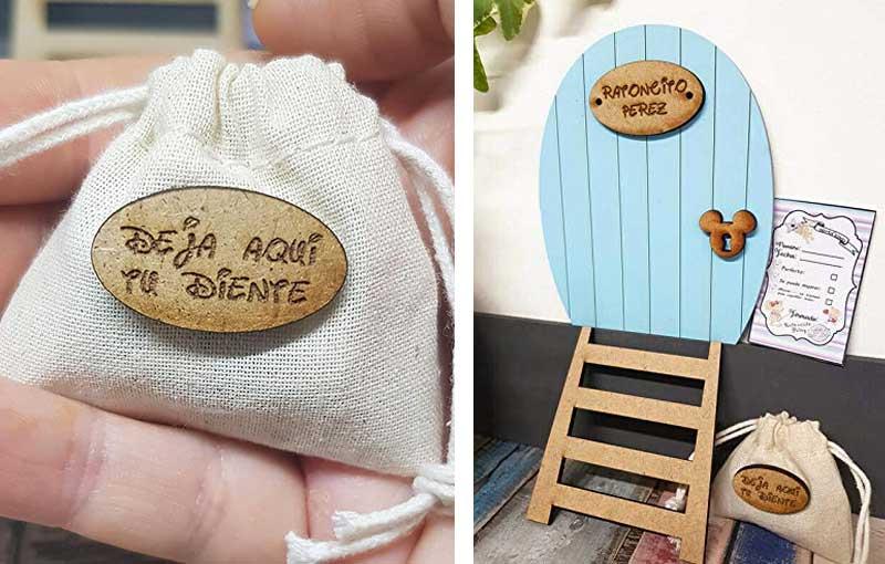 puerta raton perez madera