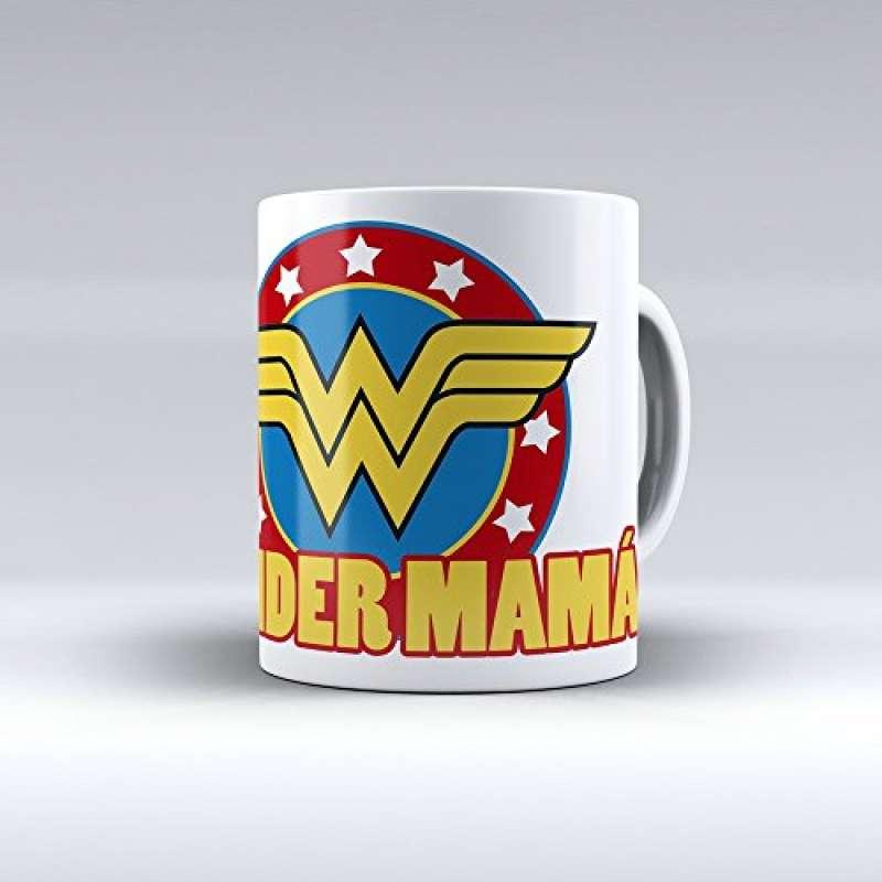 """Taza cerámica desayuno regalo original día de la madre """"Wonder mamá"""""""