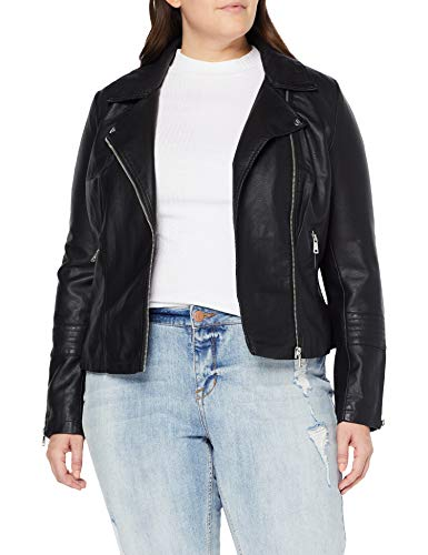 only carmakoma nos caremmy faux leather biker noos chaqueta negro black