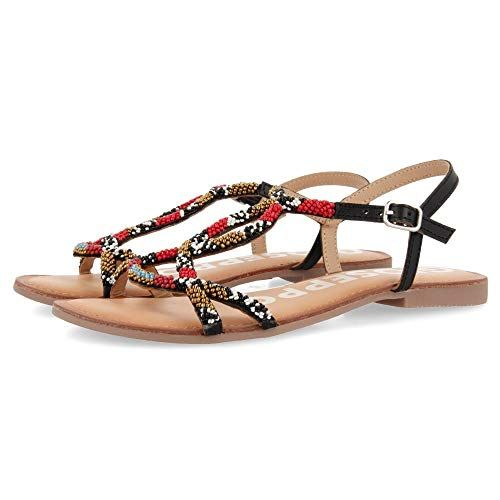 gioseppo parish sandalias con punta abierta mujer negro eu