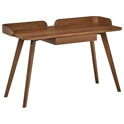 marca amazon rivet escritorio de madera curvado estilo mid century