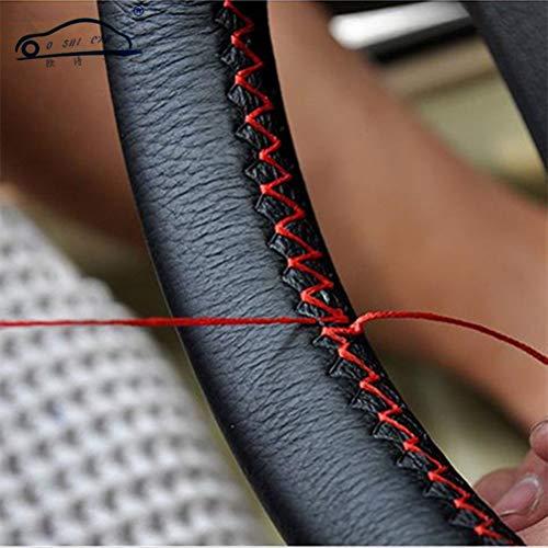bricolaje cubiertas del volante de cuero suave en el volante del automvil