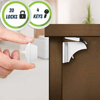 20 Cerraduras, 4 Llaves| Cerraduras de Seguridad Magnéticas, Cierres de Seguridad para...