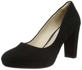 Clarks Kendra Sienna, Zapatos de Tacón para Mujer, Negro (Black Suede), 36...