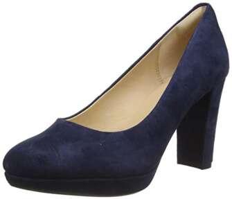 Clarks Kendra Sienna, Zapatos de Vestir par Uniforme Mujer, Azul (Blue Marine),...