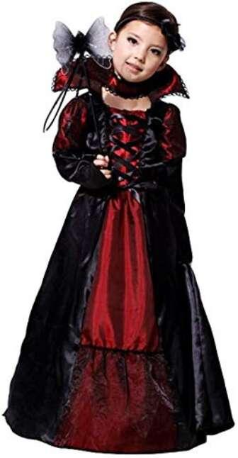 Cloudkids Disfraz Vampiresa de Niña 7-9 Años, Halloween Disfraz de Vampiro Niña...