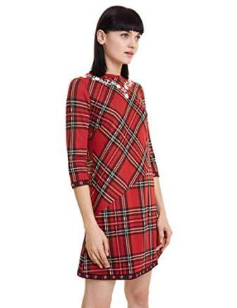 Desigual Dress Christine Vestido, Rojo (Rojo Oscuro 3029), X-Small para Mujer