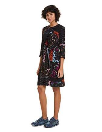 Desigual Dress Leia Vestido, Negro (Negro 2000), 40 para Mujer