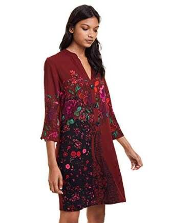 Desigual Dress Valentina Vestido, Rojo (Merlot 3215), 38 (Talla del Fabricante: 36)...