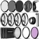 Kit Completo de filtros de Objetivos para Lentes de 58 mm de Neewer® Set de filtros UV CPL FLD +...