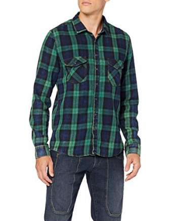 LTB Jeans Bria Camisa, Multicolor (Green Check Wash 51953), XXX-Large para Hombre