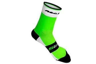 Massi Supra - Calcetines de ciclismo unisex, color verde, talla L