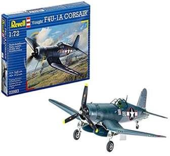 Revell Vought F4U-1D Corsair, Kit de Modelo, Escala 1:72 (3983) (03983), 14,8...