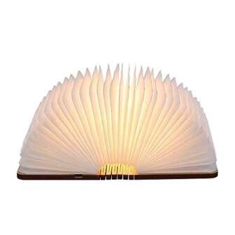 Tomshine Lámpara de Mesa,Lámpara de Libro Recargable USB,Lámpara de Noche,Blanco cálido Madera,Papel...