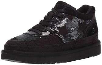 UGG Australia Highland Sneaker, Zapato para Mujer, Lentejuelas Negras, 38 EU