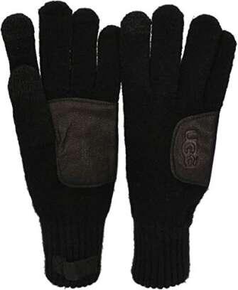 Ugg Australia LEATHER PATCH KNIT Handschuh 2020 black