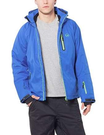 Ultrasport Everest, Chaqueta Softshell para hombre, Azul (Viktoria Blau/Shamrock), L