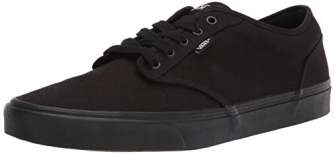 Vans Authentic, Zapatillas de Tela Unisex, Negro (Black/Black), 43 EU