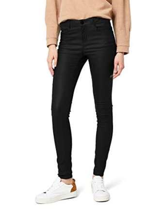 Vila Clothes Vicommit RW New Coated-Noos Pantalones, Negro (Black), 38 (Talla del...