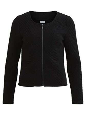 Vila Clothes Vinaja New Short Jacket-noos Chaqueta de traje, Negro (Black), 38...