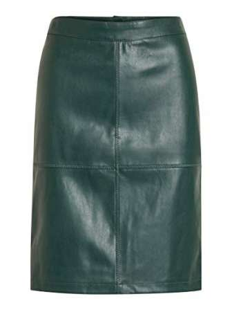 Vila Clothes Vipen New Skirt-Noos Falda, Verde (Pine Grove), 40 (Talla del...