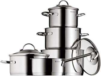 WMF Provence Plus - Batería de Cocina, Acero Inoxidable Cromargan, Tapas de...